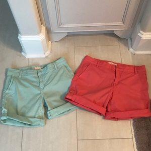 Bundle of Tory Burch cuffed chino shorts